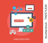 game developer | Shutterstock .eps vector #740571334