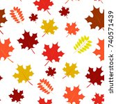 vector seamless pattern with... | Shutterstock .eps vector #740571439