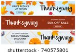 thanksgiving autumn sale web... | Shutterstock .eps vector #740575801