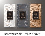vector set packaging templates... | Shutterstock .eps vector #740577094