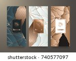 vector set packaging templates... | Shutterstock .eps vector #740577097