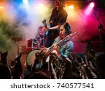 rock show. concert at the club. | Shutterstock . vector #740577541
