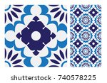 vintage patterns antique... | Shutterstock .eps vector #740578225