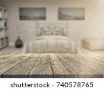 3d render of a wooden table... | Shutterstock . vector #740578765