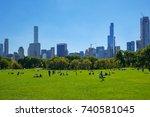 new york  usa   oct 1  2017 ... | Shutterstock . vector #740581045
