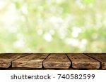 wooden table background | Shutterstock . vector #740582599