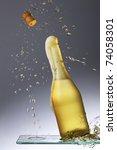 splashing champagne   sparkling ... | Shutterstock . vector #74058301