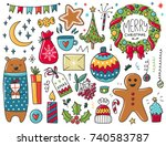 doodles christmas elements....