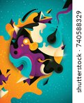 abstract illustration with... | Shutterstock .eps vector #740588329