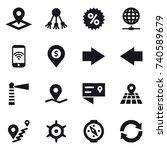 16 vector icon set   pointer ... | Shutterstock .eps vector #740589679