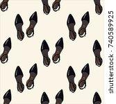 shoes  pattern  vector... | Shutterstock .eps vector #740589925