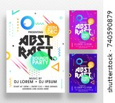 party banner or flyer with... | Shutterstock .eps vector #740590879