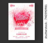 love party banner or flyer. | Shutterstock .eps vector #740590981