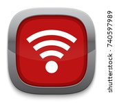 wireless icon | Shutterstock .eps vector #740597989