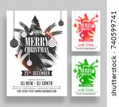 christmas party poster  banner... | Shutterstock .eps vector #740599741