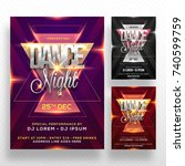 dance night flyer  music party... | Shutterstock .eps vector #740599759