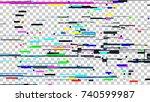 glitch noise texture. broken... | Shutterstock .eps vector #740599987