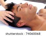 chakras head massage ancient...   Shutterstock . vector #74060068