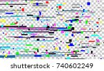 glitch noise texture. static... | Shutterstock . vector #740602249