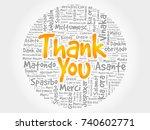 thank you word cloud in... | Shutterstock . vector #740602771
