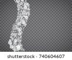blizzard snowflake on... | Shutterstock .eps vector #740604607