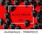 black friday  big sale  black... | Shutterstock .eps vector #740605015