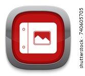 photos album icon | Shutterstock .eps vector #740605705