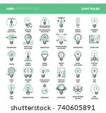 light bulbs icons | Shutterstock .eps vector #740605891