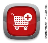 shopping cart add icon | Shutterstock .eps vector #740606701