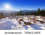 zakopane at tatra mountains in...   Shutterstock . vector #740611405