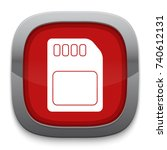 memory card icon | Shutterstock .eps vector #740612131