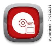 sim card storage icon | Shutterstock .eps vector #740612191