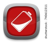 half battery icon | Shutterstock .eps vector #740612311