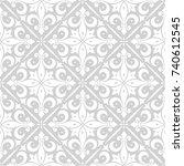 seamless wallpaper pattern.... | Shutterstock .eps vector #740612545