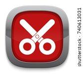 scissors icon   Shutterstock .eps vector #740613031