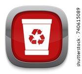 trash icon | Shutterstock .eps vector #740615089