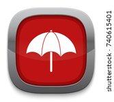 umbrella icon | Shutterstock .eps vector #740615401