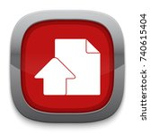 upload document icon | Shutterstock .eps vector #740615404