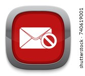 block mail icon   Shutterstock .eps vector #740619001
