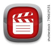 clapperboard icon | Shutterstock .eps vector #740619151