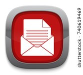 mail document icon   Shutterstock .eps vector #740619469