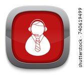 call center man icon   Shutterstock .eps vector #740619499