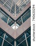 urban geometry  looking up to... | Shutterstock . vector #740620294