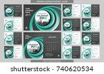 desk calendar 2018 template  ...   Shutterstock .eps vector #740620534