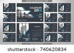 desk calendar 2018 template  ... | Shutterstock .eps vector #740620834