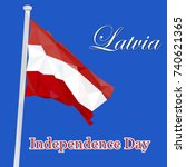 independence day of latvia.... | Shutterstock .eps vector #740621365