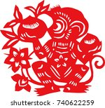 chinese traditional chinese... | Shutterstock .eps vector #740622259