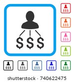 person expenses icon. flat grey ... | Shutterstock .eps vector #740622475
