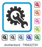 service tools icon. flat gray...