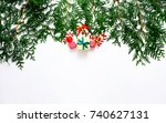 bright colored boxes on a... | Shutterstock . vector #740627131